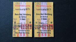 Germany - Deutsche Bundesbahn - Hamburg - Horn-Bad Meinberg - Hamburg - DM 64,00 - 1973 - Chemins De Fer