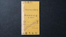 Germany - Deutsche Bundesbahn - Düsseldorf - Hamburg - DM 37,00 - 13.06.1970 - Chemins De Fer