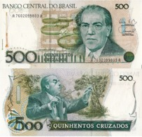 BRAZIL, 500 Cruzeiro, 1998, P212d, UNC - Brésil
