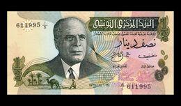 # # # Banknote Tunesien (Tunisia) ½ Dinar 1973 UNC # # # - Tunisia