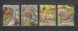 COB 3312 / 3315 Oblitération Centrale Nature Animaux Animals écureuil Oiseau Papillon - Belgium