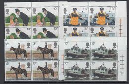 Great Britain 1979 London Police 4v Bl Of 4 ** Mnh (49034A) - 1952-.... (Elizabeth II)