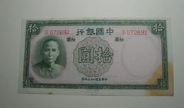 1937 - Chine - China - 10 YUAN - DT 572692 - Chine