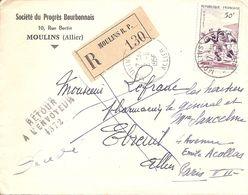 Ebreuil (Allier) Retour à L'envoyeur à Numéro 1372. - Poststempel (Briefe)