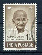 1948 INDIA GANDHI N.3 USATO - Gebraucht