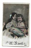 ENFANTS - LITTLE GIRL - MAEDCHEN -Young-Girl-Child Carte Fantaisie Enfant 1er  Avril - Groupes D'enfants & Familles
