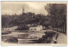 Carte Postale 29. Chateauneuf-du-Faou  Le Canal De Nantes à Brest Trés Beau Plan Animé - Châteauneuf-du-Faou