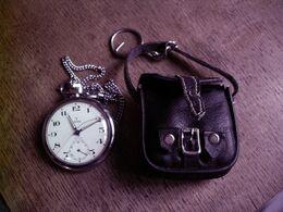 YEMA - MONTRE A GOUSSET A RESTAURER - AVEC PETITE BOURSE EN CUIR D'ORIGINE - Watches: Bracket