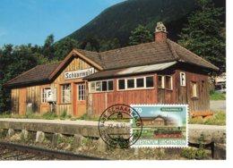 Liechtenstein 1997  Bahnhof  Schaanwald  Maximum Karte - Treni