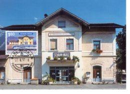 Liechtenstein 1997  Bahnhof  Schaan-Vaduz Maximum Karte - Treni