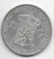*netherlands 2,5 Gulden 1929  Km 165   Vf+ - 2 1/2 Gulden