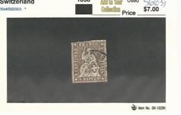 56633 ) Switzerland 1858 Postmark Cancel - Gebraucht
