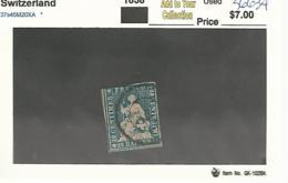 56634 ) Switzerland 1858 Postmark Cancel - Gebraucht