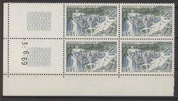 N° 1584 Y.T. Neuf ** Chateau De Chantilly Coin Daté: 3.6.69 - 1960-1969