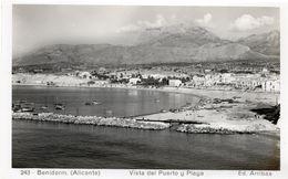 BENIDORM ALICANTE - VISTA DEL PUERTO Y PLAYA - FORMATO PICCOLO - (rif. A17) - Alicante