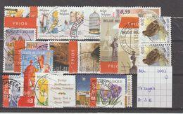 België 2003 - 17 Zegels Gest./obl./used - Belgium