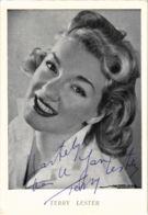 CPA AK FILM STAR Terry Lester Real Signature (95352) - Actores