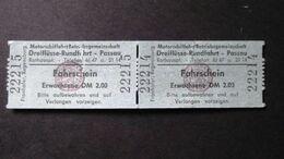Germany - MotorschiffahrtBetriebsgemeinschaft Dreiflüsse-Rundfahrt - Passau - DM 2,00 - 1972 - Billets D'embarquement De Bateau