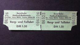 Germany - Sesselbahn Hochzell-Bodenmais/ Bay.Wald - Berg-und Talfahrt - DM 1,50 - 1972 - Titres De Transport