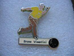 Pin's Du Joueur Petanque Bruno Visentini - Boxeo