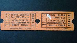 Italia - Schnalstaler Gletscherbahnen AG - Schnals - 1978 - Titres De Transport