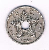 10 CENTIMES 1924 BELGISCH CONGO /5804/ - Congo (Belgisch) & Ruanda-Urundi