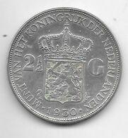 *netherlands 2,5 Gulden 1930  Km 165 - 2 1/2 Gulden
