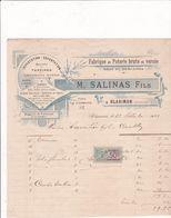 33-M.Salinas ..Poteries Brutes & Vernies, Terrines, Cruchons...Blasimon...(Gironde)...1921 - Artigianato
