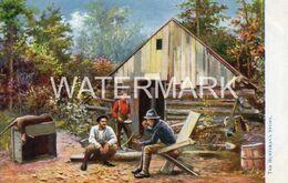 THE HUNTSMANS STORY OLD ART COLOUR POSTCARD TUCK OILETTE IN THE ADIRONDACKS SERIES NO 7044 NEW YORK USA AMERICA - Adirondack