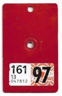 Velonummer Velovignette Basel Land BL 97 - Number Plates