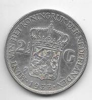 *netherlands 2,5 Gulden 1933  Km 165 - 2 1/2 Gulden