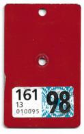 Velonummer Velovignette Basel Land BL 98 - Number Plates