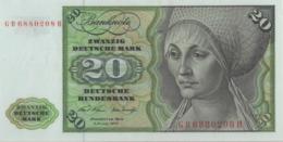 BRD Ro 271a 20 DM Serie GB...H 1970 UNC - [ 7] 1949-… : RFD - Rep. Fed. Duitsland
