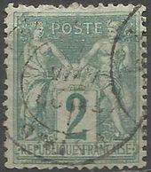 France - Type Sage II - N° 74 Oblitéré - 1876-1898 Sage (Type II)