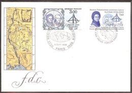 Finland Yv 966  Maupertuis +France Yv 2428,La Condamine,émission Commune : Mesures D'Arcs Méridien. F.D.C. 1986 - Polar Exploradores Y Celebridades