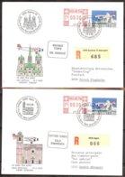 Suisse 50 Ans PRO AERO 1938-1988. 4 Lettres Mauvais Temps Vol Reporté En 4 Langues+1 Vol Spécial Zurich-Anchorage - Airmail