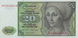 BRD Ro 271b 20 DM Serie GF...H 1970 UNC - [ 7] 1949-… : RFD - Rep. Fed. Duitsland