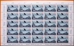 """Schweiz Suisse 1947: PRO AERO """"Genève-New York"""" Zu 42 Mi 479 Yv PA41 Bogen ** MNH (Zumstein CHF 528.00) NOTA !! - Posta Aerea"""