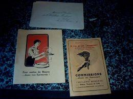 Vieux Papiers  Lot De Documents  Publicitaires Relatifs à Lhuilerie Moderne Victor  Fabre Salon De Provence Voir Photos - Publicidad