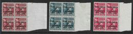 SAMOA 1935 SILVER JUBILEE SET IN UNMOUNTED MINT BLOCKS OF 4 SG 177/179 Cat £13 - Samoa