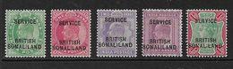 SOMALILAND 1903 OFFICIALS SET SG O6/O9f MOUNTED MINT Cat £28 - Somaliland (Protectorat ...-1959)