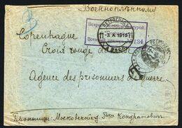 2-10-1915 Lettre Taxée De PETROGRAD Vers Croix Rouge  Copenhague, Agence Des Prisonniers De Guerre - 1857-1916 Empire