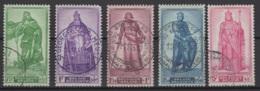 Belgique: 1946. COB : 737/41. Oblitéré(s).  (une Dent Courte Sur Le 738) - Used Stamps