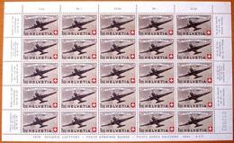 """Schweiz Suisse 1944: PRO AERO """"Douglas DC3"""" Zu 40 Mi 438 Yv PA39 Im Bogen ** MNH (Zumstein CHF 437.50) - Posta Aerea"""
