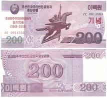 Korea North - 200 Won 2018 UNC Comm. Lemberg-Zp - Korea, Noord