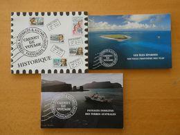 TAAF Terres Australes, 3 Carnets De Voyage Neufs : 2005, 2007 Et 2009 Cote Plus De 200€ - Terres Australes Et Antarctiques Françaises (TAAF)