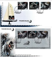 New Zealand 2003 Team NZ America's Cup Set Of 2 FDC - FDC