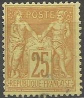 France - Type Sage II - N° 92 Oblitéré (très Légère) - 1876-1898 Sage (Tipo II)