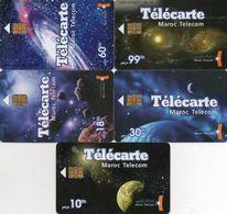 130 Maroc,Marokko.Morocco. 5 Télécartes (serie Comlete)  MarocTelecom - Maroc