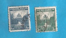 KR-3  1937  334-35  JUGOSLAVIJA JUGOSLAWIEN  KLEINE ANTANTA KIRCHE OPLENAC   USED - Oblitérés